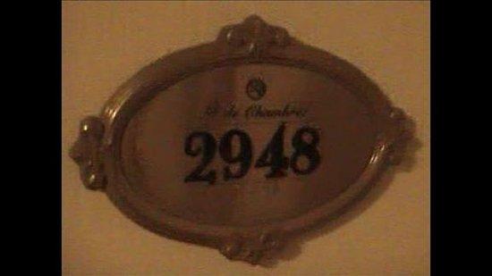 Room door plaque - Picture of Paris Las Vegas, Las Vegas