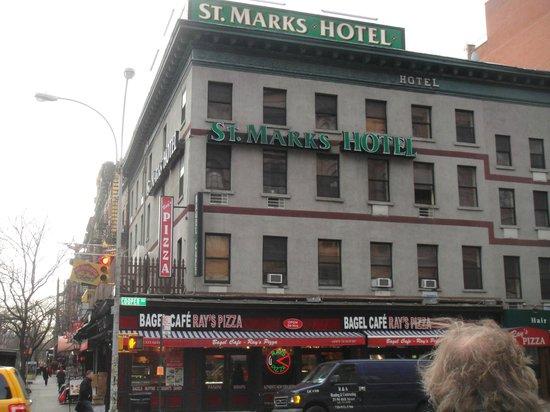 St. Marks Hotel: Fachada do hotel