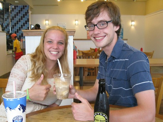 Elevation Burger Ann Arbor - Washtenaw: Our first root beer float!