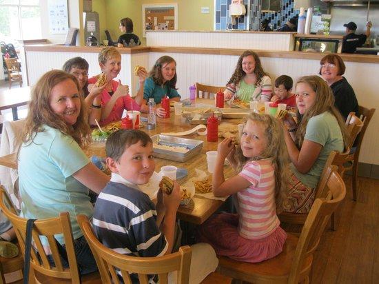 Elevation Burger Ann Arbor - Washtenaw: Happy group