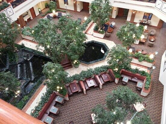 Embassy Suites by Hilton Austin Arboretum: view of the hotel lobby from the 5th floor.