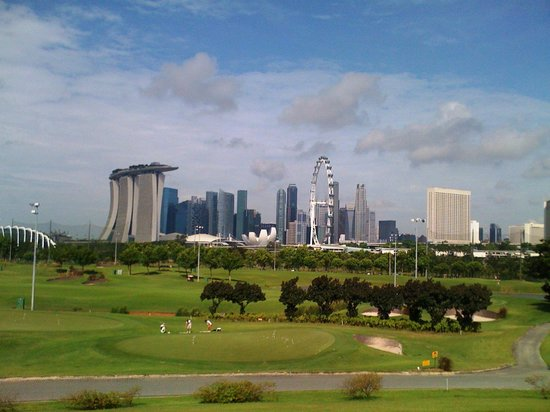 Marina Bay Golf Course: Panorama sekitar Marina Bay, Singapore