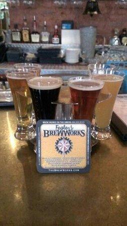 Bethlehem Brew Works: Beer flight