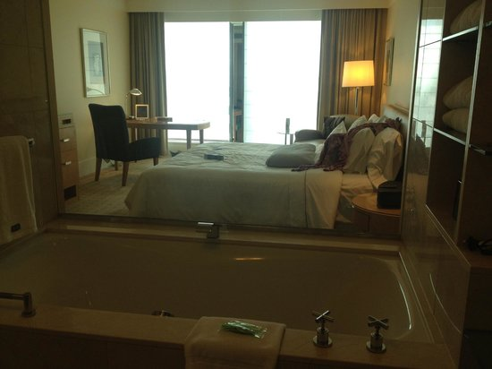 The Westin Sydney: View of the room out of the bathroom