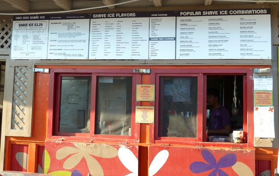 Ono Family Restaurant and Shave Ice: Shave ice options!
