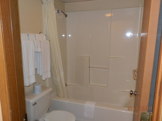Carriage House Inn: bathroom in need of upgrade