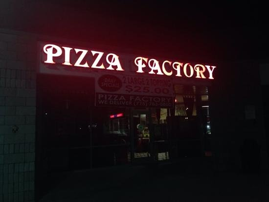 Pizza Factory : 2 lg 2 top. $25.00
