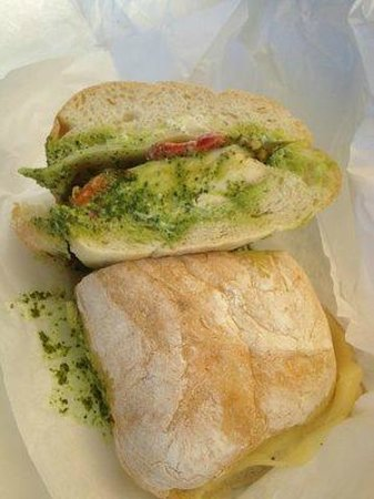 Zoccoli's Delicatessen: chicken pesto on ciabatta