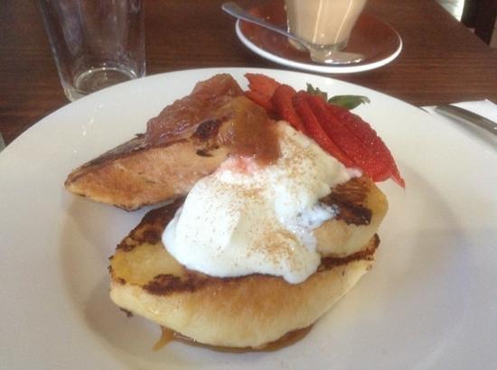 Raspberry Fool: french toast