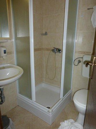 Hotel Bor: bagno di camera doppia con vista mare
