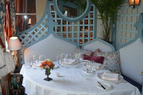 The Inn at Little Washington: The terrace of the tea room