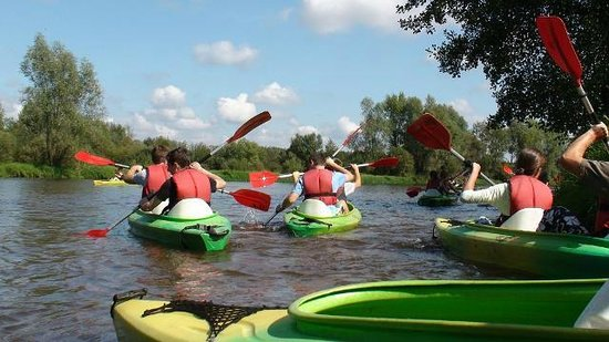 Warka, Polska: A kayaking trip down the Pilica River