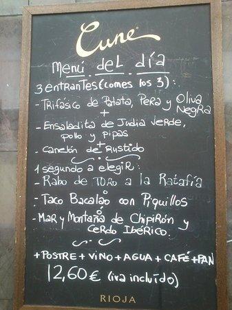Huesca, Spain: Menú del día