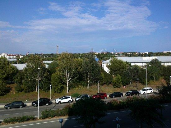 Sol Costa Daurada: desde el balcon se ve portaventura