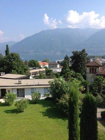 Hotel Belvedere Locarno: Aussicht aus Zimmer