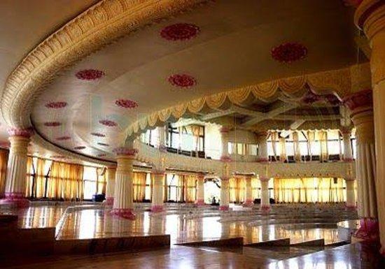 Art of Living International Center : Vishalakshi Mantap inside view