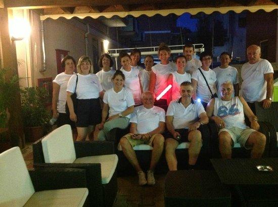 Hotel Ondina & Milazzo: Un bel gruppo prima di una camminata