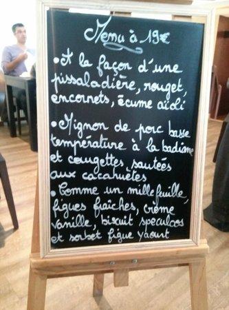 Auberge du Pressoir : menu