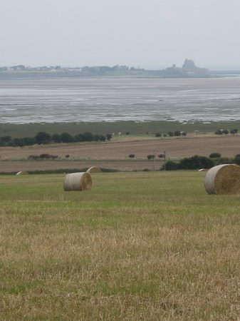 Northumberland, UK: Lindisfarne from St Cuthbert's Way