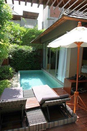 Baan Haad Ngam Boutique Resort & Spa: Der private Pool, vollkommen uneinsehbar