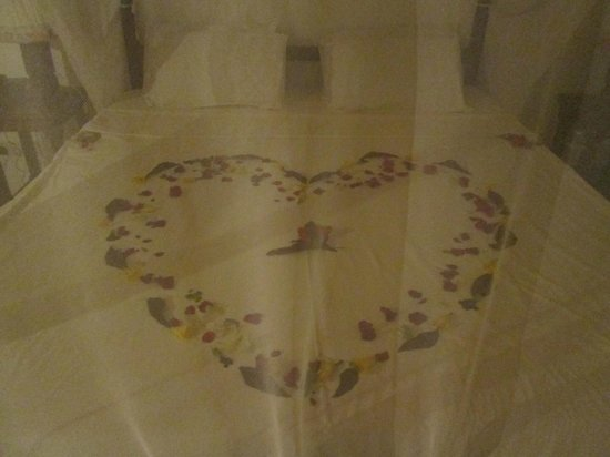 Diani Sea Resort: our honeymoon bed lol