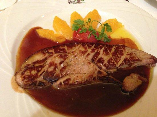 Paul Chene : Эскалоп из фуа-гра/ Escalope de Foie Gras de Canard Poêlée à la Liqueur d'Orange