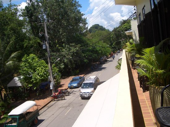 The Apsara: View of street from balcony
