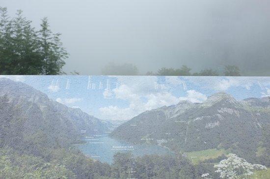 Berggasthaus Schwammhöhe: Aussicht auf See ...