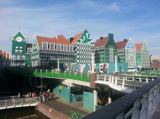 The building with clock is train station picture of for Train hotel amsterdam