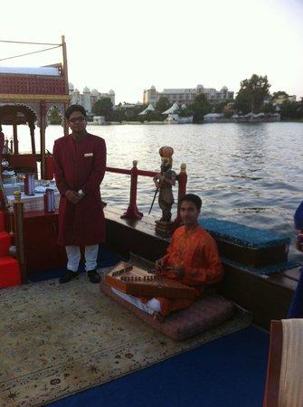 Taj Lake Palace Udaipur: Sur le bateau