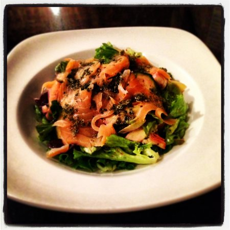 Cloisters: Beautiful new Smoked Salmon salad.