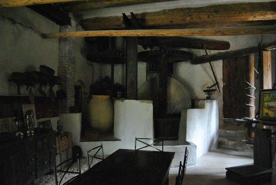 Moulin Sainte Anne : Une des pièce où l'on peut prendre son petit déjeuner