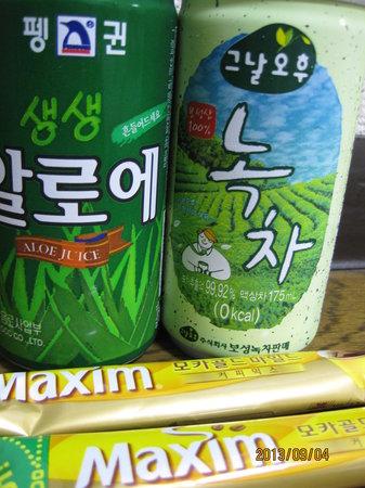 Samho Park Hotel: 冷蔵庫に入ってた飲み物!私の口コミ読んでいただいた方...誤字脱字が多くてすみません
