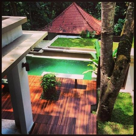 The Luku Boutique Villa & Gallery: Poolview at Villa from Balcony