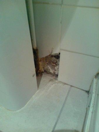 Arriva Hotel : mur  salle de bain