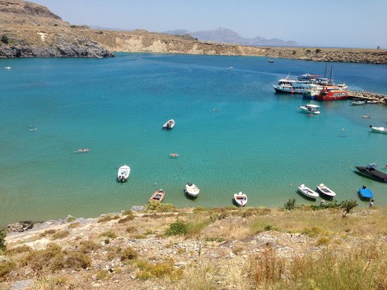 Maris Studios Lindos: Overlooking the bay