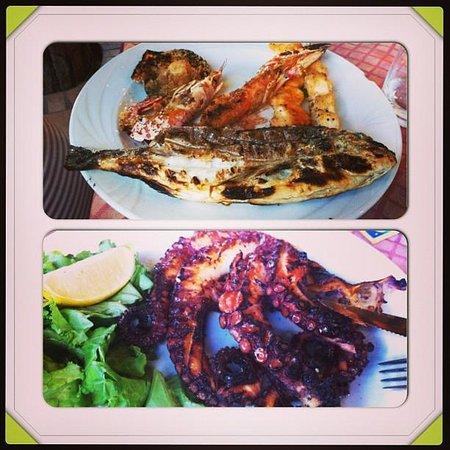 L'Osteria dei Due Carrettieri : polipo e grigliata di pesce