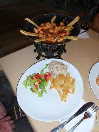 Albatros Apartments: One of the many lovely dishes