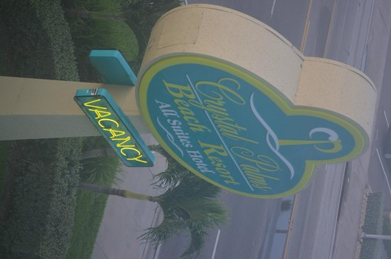 Crystal Palms Beach Resort: The Hotel Sign!