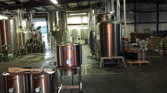 Active brewery at Due South Brewing Co.