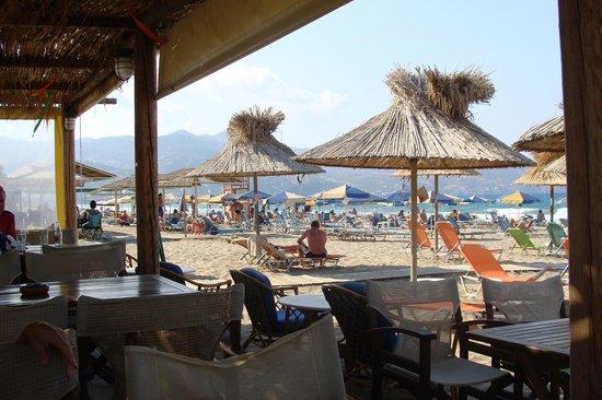 Aptera Beach: The beach from the Taverna