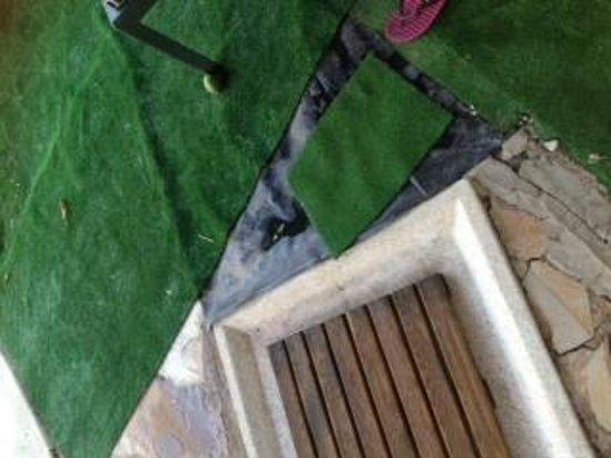 Hotel Palacio Guzmanes: piscina ducha