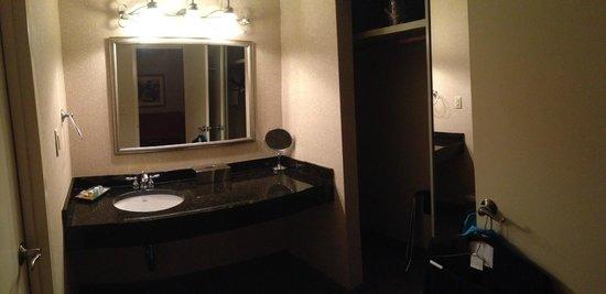 Regency Suites: Sink/Closet area.