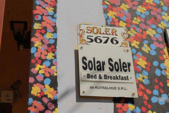 Solar Soler Bed & Breakfast: Detalle de la fachada