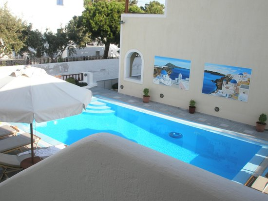 Roula Villa: vue du balcon