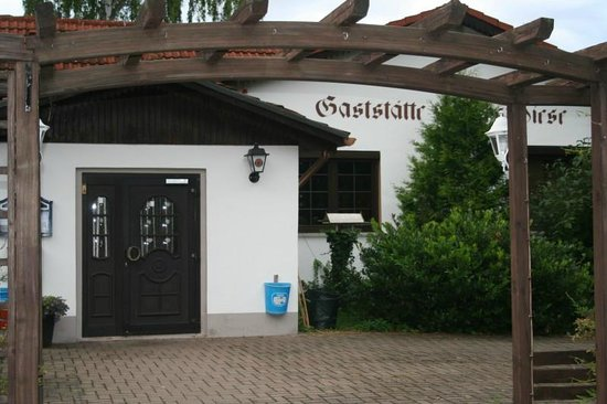 Gastehaus & Motel Zur Festwiese: Entrance to Restaurant