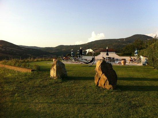 Agriturismo il Cavallino : il verde prato e la piscina