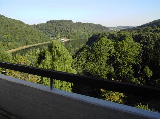 Dorint Seehotel & Resort Bitburg/Sudeifel : Blick vom Appartementbalkon auf den See App. 810