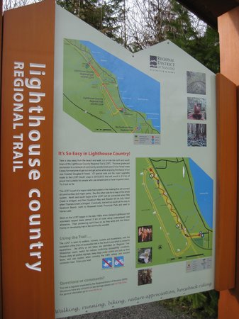 Lighthouse Country Regional Trail : This sign marks the start of the south loop trail.