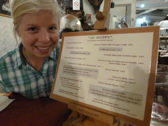 "La Brocherie : With the ""desserts"" menu - I took crêpes Suzettes"